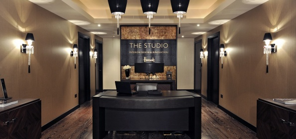Focus on british interior design: The Studio at Harrods Focus on british interior design: The Studio at Harrods entrance