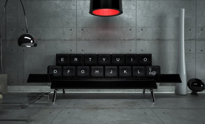 The QWERTY Sofa Bed- ZO_LOFT Designs The QWERTY Sofa Bed- ZO_LOFT Designs qwerty keyboad sofa 1