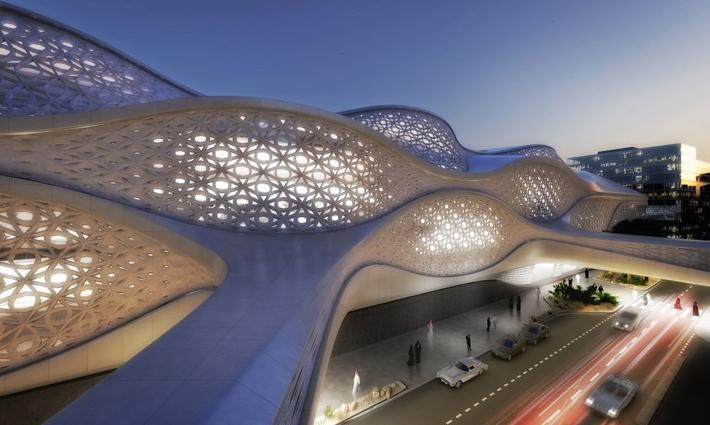 Zaha Hadid - New Metro Station in Riyadh Zaha Hadid – New Metro Station in Riyadh zaha hadid 3