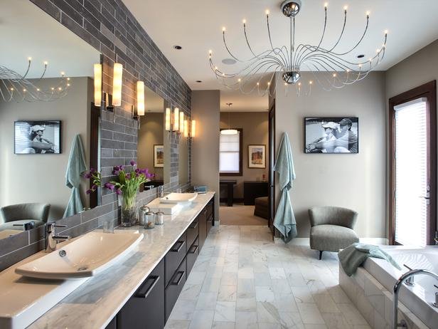 10 Contemporary Bathroom Lighting Fixtures 10 Contemporary Bathroom Lighting Fixtures DP Tina Muller contemporary neutral bathroom s4x3 lg