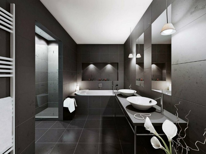 OUR MOST POPULAR ARTICLE OF 2014: Black Vanity - Bathroom Design Ideas OUR MOST POPULAR ARTICLE OF 2014: Black Vanity – Bathroom Design Ideas black color theme old fashioned style bathroom design