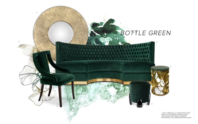bottle green Interior Design Trends: Bottle Green Allows Nature Into Your Space Interior Design Trends Bottle Green Allows Nature Into Your Space 5