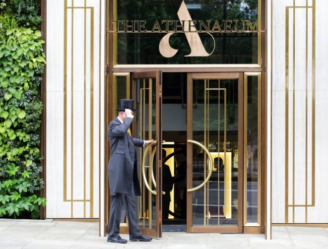 The Athenaeum Hotel by Kinnersley Kent Design London the athenaeum hotel The Athenaeum Hotel by Kinnersley Kent Design London The Athenaeum Hotel by Kinnersley Kent Design London doorman 661x502