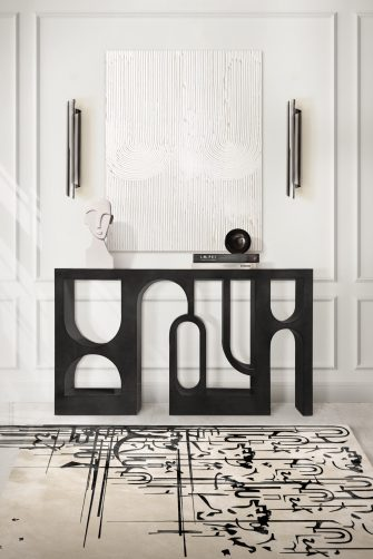 Rug´s Design rug´s design Top 5 Rug´s Design setting trends this year black ink rug from rugsociety 335x502